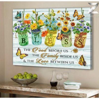 Zalooo Housewarming Gifts Bless Wall Art Butterfly Decor