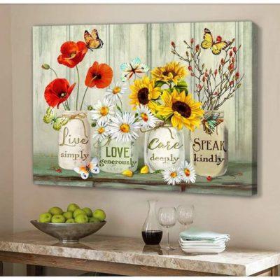 Zalooo Housewarming Gifts Speak Kindly Wall Art Butterfly Decor