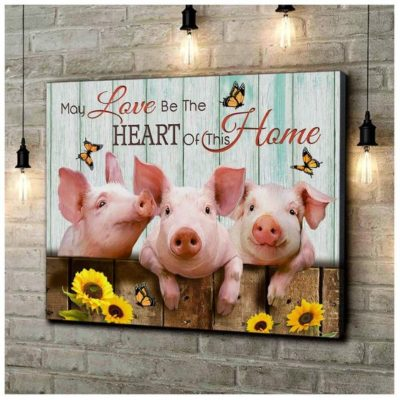 Zalooo Housewarming Gifts Home Wall Art Pig Decor