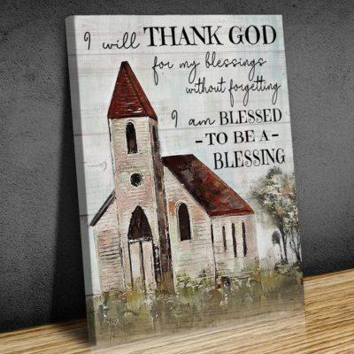 Zalooo Housewarming Gifts I Will Thank God Wall Art Church Decor