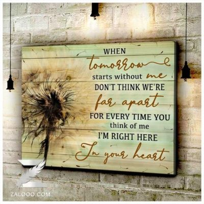 Zalooo Housewarming Gifts In Your Heart Wall Art Dandelion Decor
