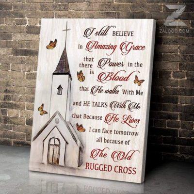 Zalooo Housewarming Gifts The Old Rugged Cross Wall Art Butterfly Decor