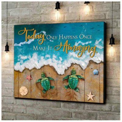 Zalooo Housewarming Gifts Make It Amazing Wall Art Turtle Decor