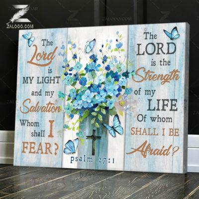 Zalooo Sympathy Canvas The Lord Is My Light Wall Art Decor - zalooo.com