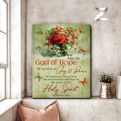 Zalooo Butterfly Canvas May The God of Hope Wall Art Decor - zalooo.com