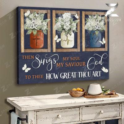 Zalooo Butterfly Canvas Then Sings My Soul Wall Art Decor - zalooo.com
