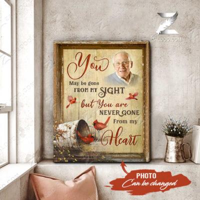 Zalooo Cardinal Canvas You May Gone Wall Art Memorial Decor - zalooo.com