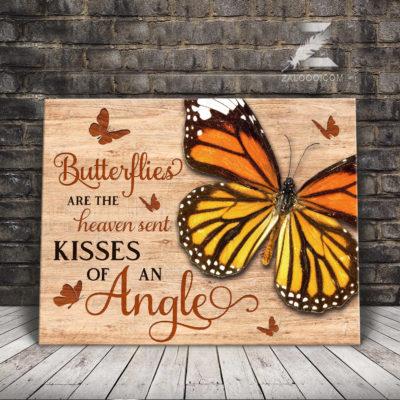 Zalooo Butterfly Canvas Butterflies Are The Heaven Sent Kisses Wall Art Decor - zalooo.com