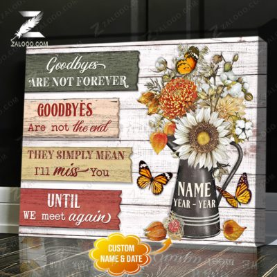 Zalooo Butterfly Canvas Goodbyes Are Not Forever Wall Art Decor - zalooo.com