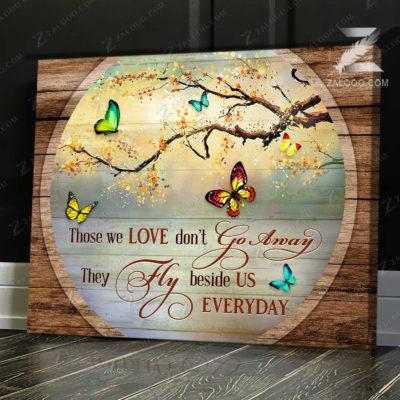 Zalooo Sympathy Canvas Those We Love Don't Butterfly Wall Art Decor - zalooo.com