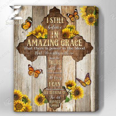 Zalooo Sympathy Canvas I Still Believe Sunflower Wall Art Decor - zalooo.com