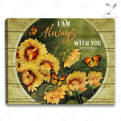 Zalooo Sympathy Canvas I Am Always With You Butterfly Wall Art Decor