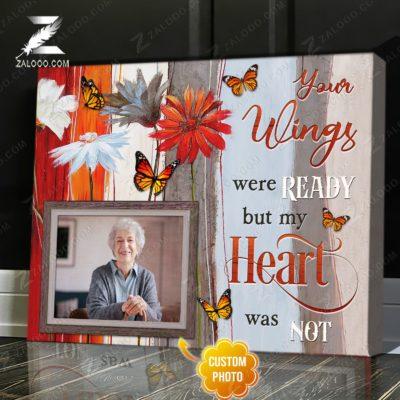 Zalooo Sympathy Canvas Your Wings Were Ready Butterfly Wall Art Decor - zalooo.com