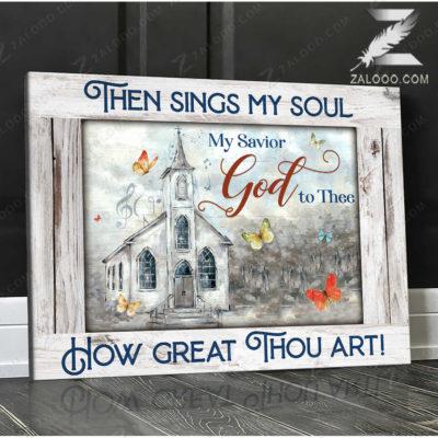 Zalooo Sympathy Canvas Then Sings My Soul Butterfly Wall Art Decor - zalooo.com