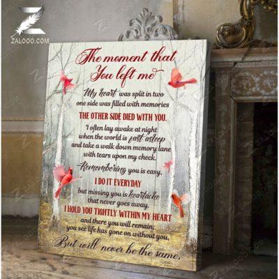 Zalooo Sympathy Canvas The Moment That You Cardinal Wall Art Decor - zalooo.com