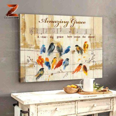 Zalooo Sympathy Canvas Amazing Grace Butterfly Wall Art Decor - zalooo.com