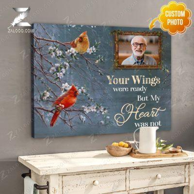 Zalooo Sympathy Canvas Your Wings Were Butterfly Wall Art Decor - zalooo.com