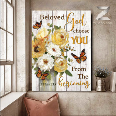 Zalooo Sympathy Canvas Beloved God Chose You Wall Art Decor - zalooo.com