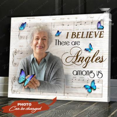 Zalooo Sympathy Canvas I Believe There Are Angel Butterfly Wall Art Decor - zalooo.com
