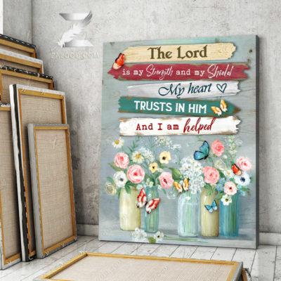 Zalooo Sympathy Canvas The Lord Is My Strenght Butterfly Wall Art Decor - zalooo.com