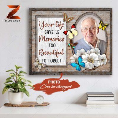 Zalooo Sympathy Canvas Your Life Gave Us Butterfly Wall Art Decor - zalooo.com