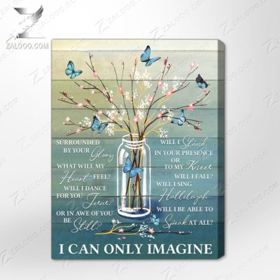 Zalooo Sympathy Canvas I Can Only Imagine Butterfly Wall Art Floral Decor