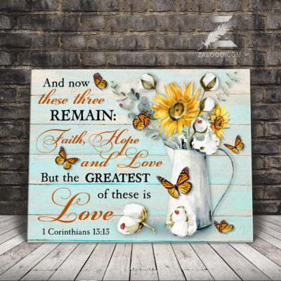Zalooo Best Canvas Gifts And Now These Three Remain Wall Art Floral Decor - zalooo.com