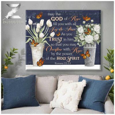 Zalooo Best Canvas Gifts May The God Wall Art Floral Decor - zalooo.com