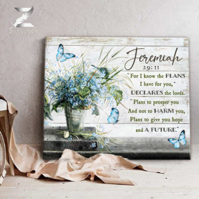 Zalooo Sympathy Canvas For I Know The Plans Butterfly You Wall Art Decor - zalooo.com