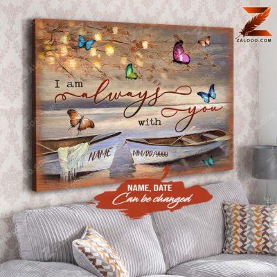 Zalooo Sympathy Canvas I Am Always With Butterfly Wall Art Decor - zalooo.com