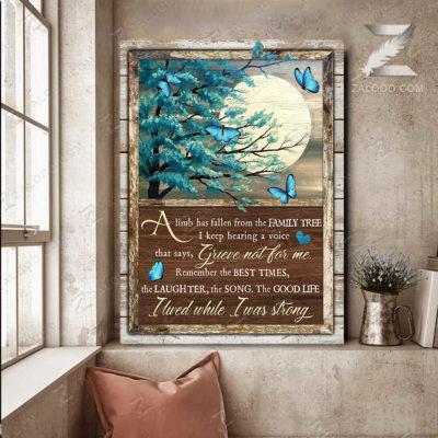 Zalooo Sympathy Canvas A Limb Has Fallen Butterfly Wall Art Decor - zalooo.com